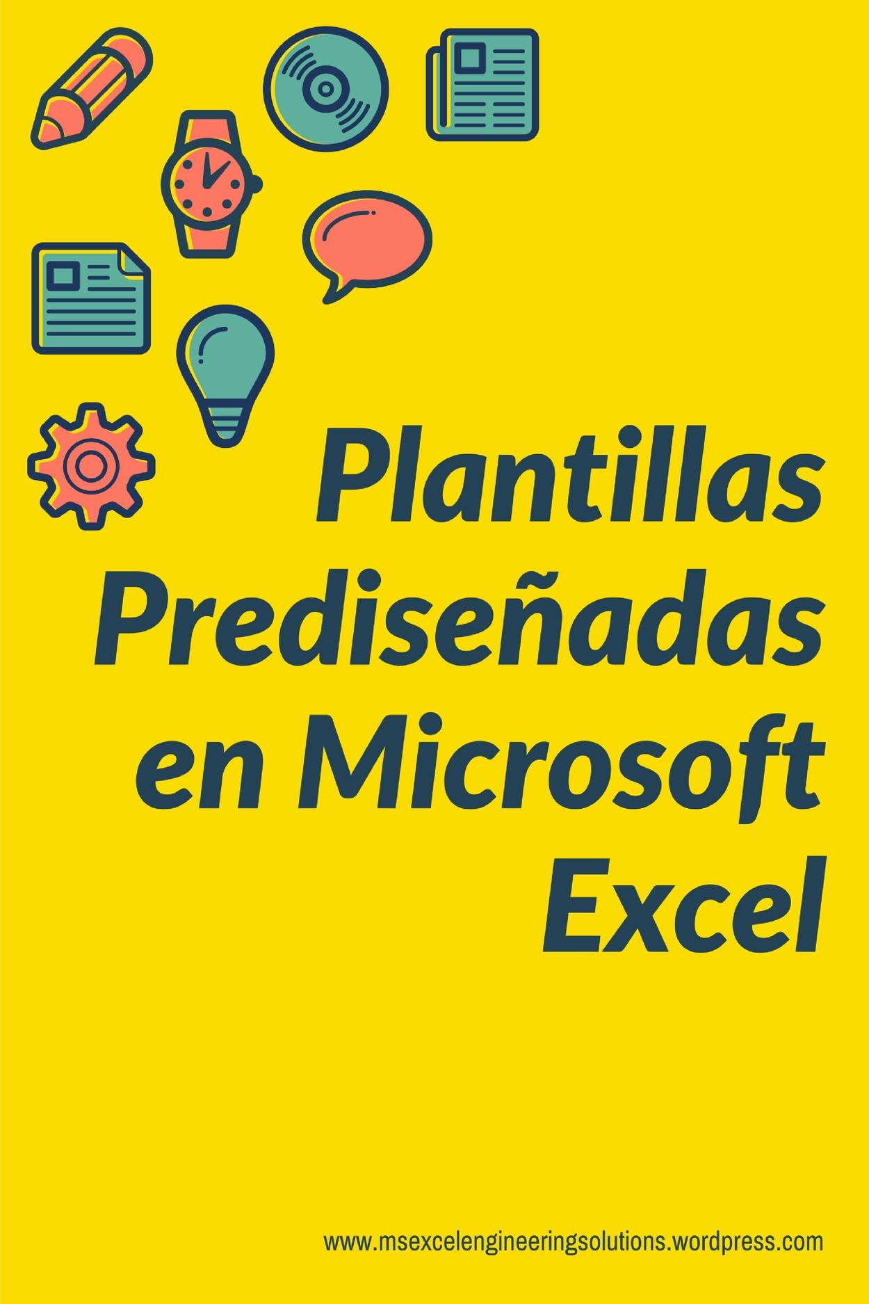 Plantillas Prediseñadas – Ms Excel Engineering Solutions